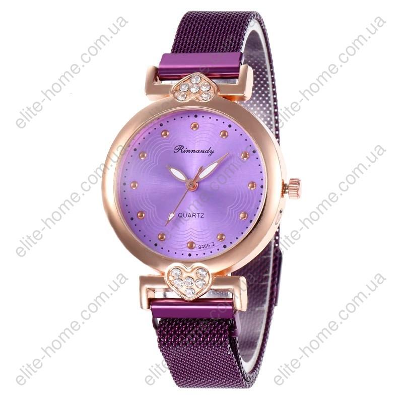 """Женские наручные часы на магнитной застежке """"Rinnandy"""" (фиолетовый)"""