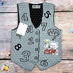 """Жилетка для малюка """"Цифри"""" Розміри: 0-1,1-2,2-3,4-5 років (9153-2)"""