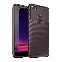 Чехол Carbon Case Huawei P10 Lite / Nova Lite Коричневый