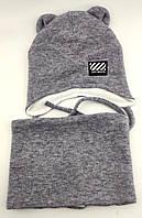 Оптом шапка детская с 48 по 52 размер хомутом ангора ушками шапки головные уборы детские опт
