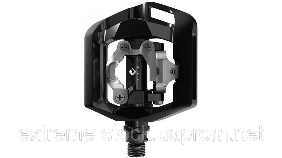 Контактные педали Shimano SPD PD-T421 CLICK`R + шипы, чёрные