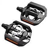 Контактные педали Shimano SPD PD-T421 CLICK`R + шипы, чёрные, фото 3