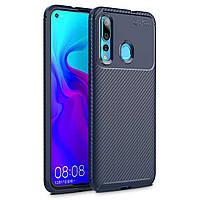 Чехол Carbon Case Huawei Nova 4 Синий
