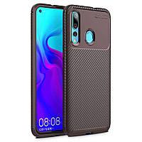 Чехол Carbon Case Huawei Nova 4 Коричневый