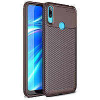 Чехол Carbon Case Huawei Y7 2019 Коричневый