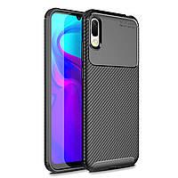 Чехол Carbon Case Huawei Y6 Pro 2019 / Enjoy 9e Черный
