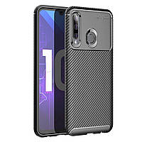 Чехол Carbon Case Huawei P Smart Plus 2019 / Honor 10i Черный