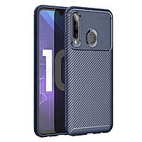 Чехол Carbon Case Huawei P Smart Plus 2019 / Honor 10i Синий