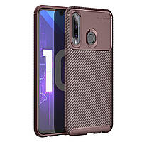 Чехол Carbon Case Huawei P Smart Plus 2019 / Honor 10i Коричневый