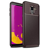 Чохол Carbon Case Samsung J600 Galaxy J6 2018 Коричневий