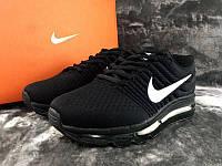 Мужские кроссовки Nike Air Max 2017 Black, черные. Код товара : KS 378