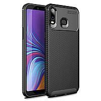 Чехол Carbon Case Samsung Galaxy A6s Черный