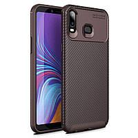 Чехол Carbon Case Samsung Galaxy A6s Коричневый