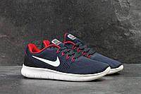 Мужские кроссовки Nike Free RN Blue/White, синие. Код товара : KS 290