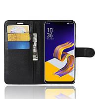 Чехол-книжка Litchie Wallet для Asus Zenfone 5 / 5Z(ZE620KL / ZS620KL) Черный