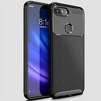 Чехол Carbon Case Xiaomi Mi 8 Lite Черный