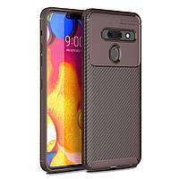 Чехол Carbon Case LG G8 ThinQ / G8s Коричневый