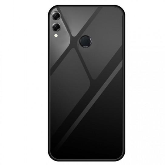 Стеклянный чехол-накладка Gradient series для Huawei Honor 8X Max Черный