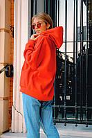Стильный женский худи тёплый. Цвет: красный, чёрный, бежевый