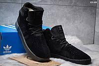 Мужские зимние кроссовки Adidas Tubular Invader Strap, черные