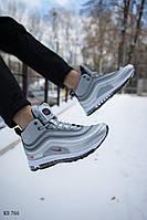 Мужские зимние кроссовки на меху Nike Air Max 97, серебро