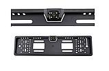 Камера заднего вида в авто номерной рамке с 4 LED подсветкой Blac, фото 2