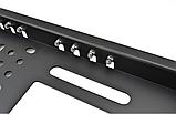 Камера заднего вида в авто номерной рамке с 4 LED подсветкой Blac, фото 5