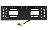 Камера заднего вида в авто номерной рамке с 4 LED подсветкой Blac, фото 7