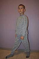 Пижама детская теплая серая полотно начес р 30,32