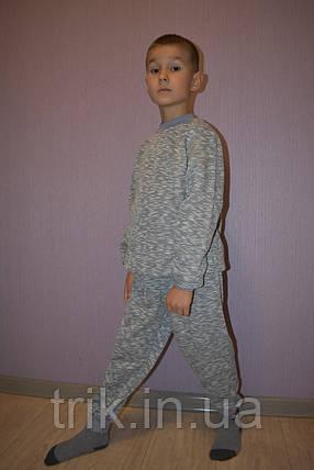 Пижама детская теплая серая полотно начес р 30,32, фото 2