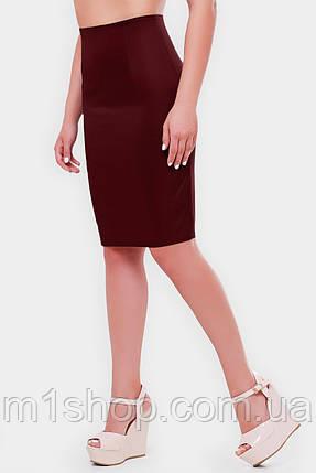 Женская деловая юбка карандаш больших размеров (Waist/1052 fup), фото 2