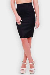 Женская деловая юбка карандашбольших размеров (Waist/1052 fup) Черный