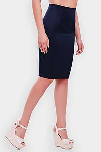 Женская деловая юбка карандашбольших размеров (Waist/1052 fup) Т.синий