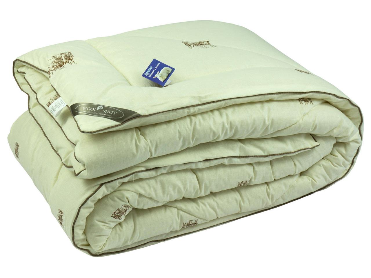 Одеяло шерстяное Руно SHEEP зимнее 140х205 полуторное
