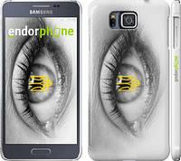 "Чехол на Samsung Galaxy Alpha G850F Глаз ""877c-65"""