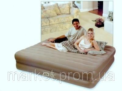 Две надувные кровати в одной Queen Downy Intex 66754 (152х203х46 см. )