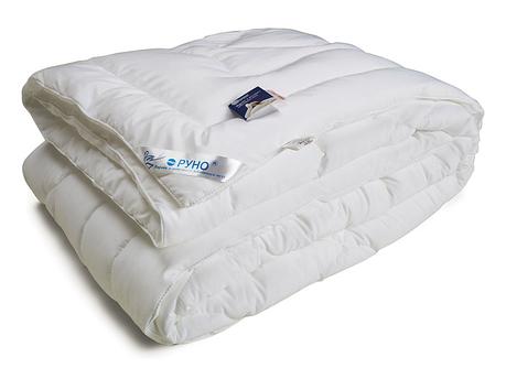 Одеяло лебяжий пух Руно микрофибра зимнее 140х205 полуторное, фото 2