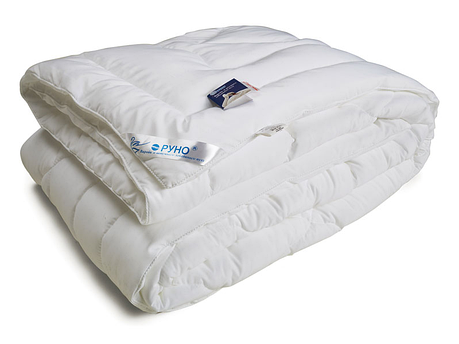 Одеяло лебяжий пух Руно микрофибра зимнее 200х220 евро, фото 2