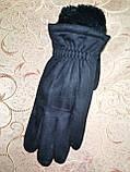Замш с сенсором с Арктический бархат Angel перчатки мужские только оптом, фото 2