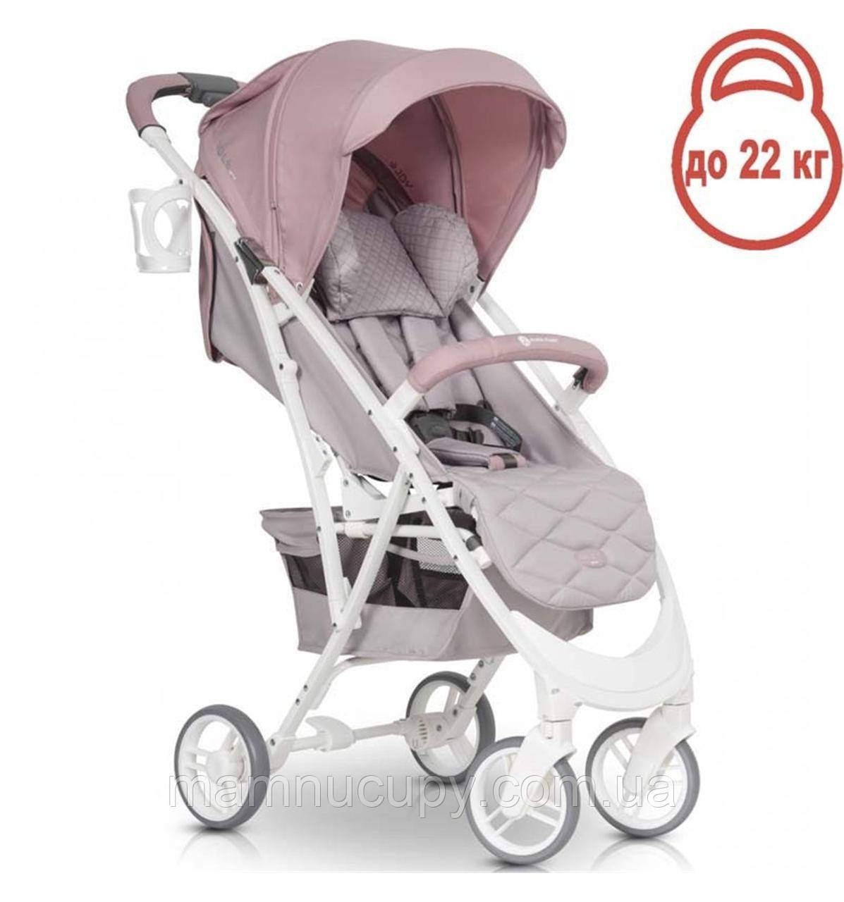 Дитяча прогулянкова коляска Euro-Cart VoltPro Powder Pink
