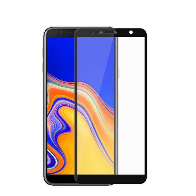 Защитное цветное стекло Mocolo (full glue) на весь экран для Samsung Galaxy J4+ (2018) Черное