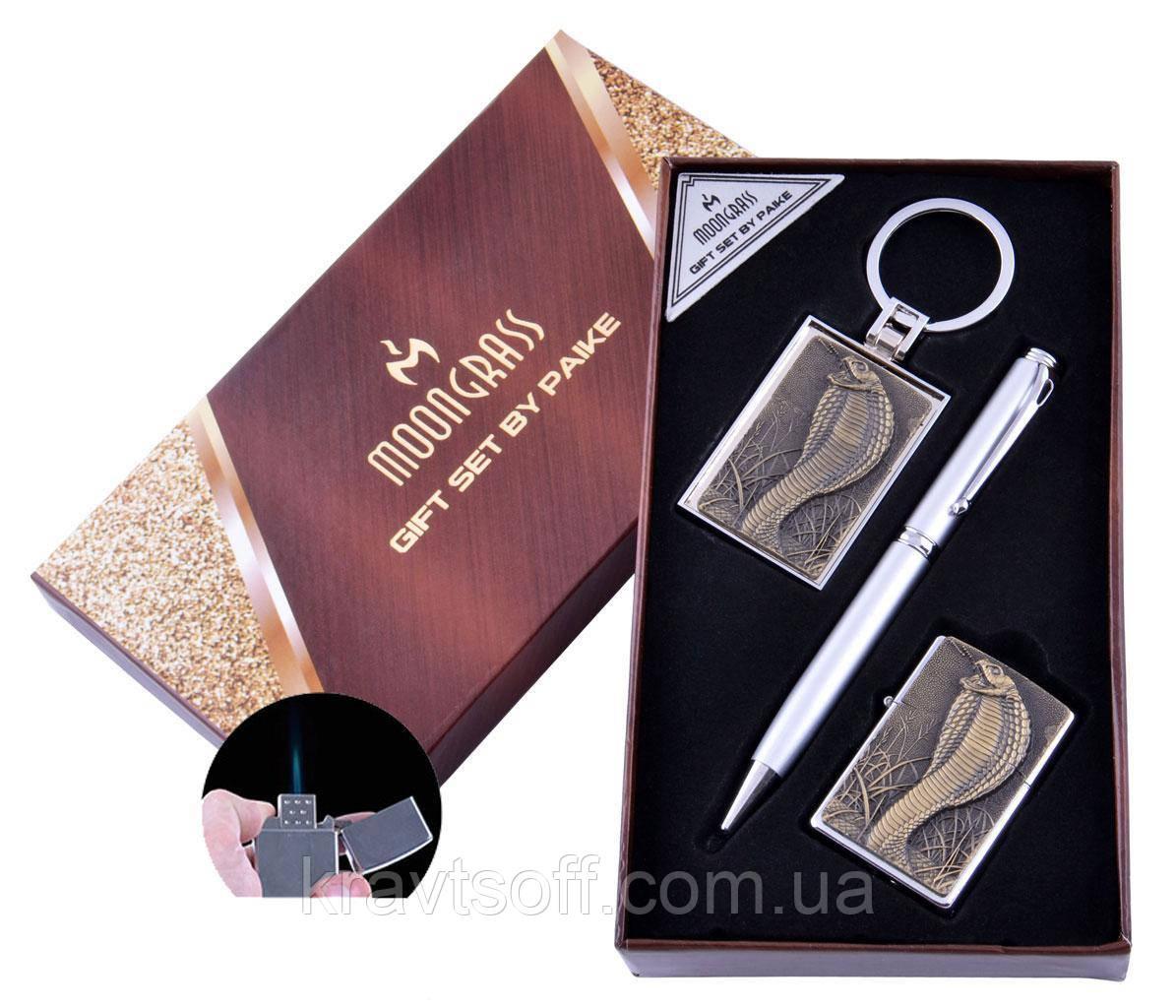 Подарунковий набір Кобра Ручка/ Брелок/ Запальничка (Гостре полум'я) №AL-203A-1
