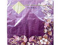 Дизайнерская салфетка (ЗЗхЗЗ, 20шт) Luxy  Цветочное бордо (018) (1 пач)