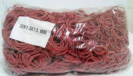 "Резинка для вязания зелени диаметр 25мм (красная) 1 кг ""Plast"" (1 пач)"