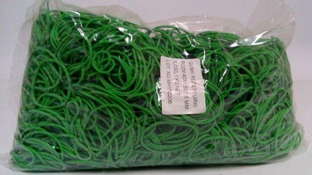 """Резинки для денег зеленые (40*1,5*1,5)  """"Plast"""", 1 кг/пач"""