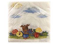Серветка (ЗЗхЗЗ, 20шт) La Fleur Цуценята (013) (1 пач.)