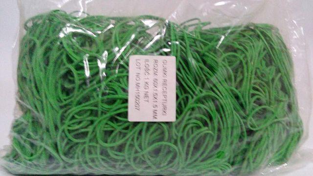 """Резинки для денег зеленые (60*1,5*1,5)  """"Plast"""", 1 кг/пач"""