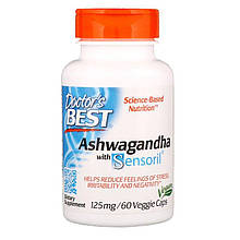 "Ашвагандха с сенсорилом Doctor's Best ""Ashwagandha with Sensoril"" 125 мг (60 капсул)"