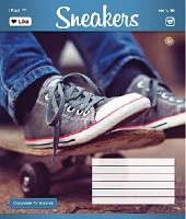 Зошит учнівська 12 аркушів, лінія Молодіжні кеди, малюнки в асортименті