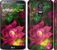 """Чехол на LG G2 Абстрактные цветы 2 """"818c-37"""""""